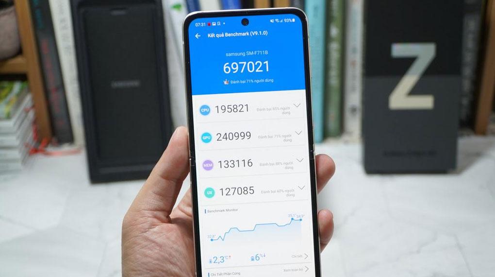Samsung Galaxy Z Flip3 5G 256GB | Điểm hiệu năng Antutu