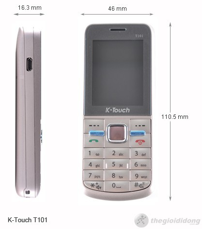Kích thước của Ktouch T101