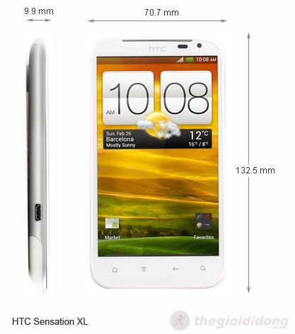 Kích thước của HTC Sensation XL