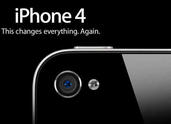 iPhone 4 được trang bị Camera HD cùng đèn Flash LED