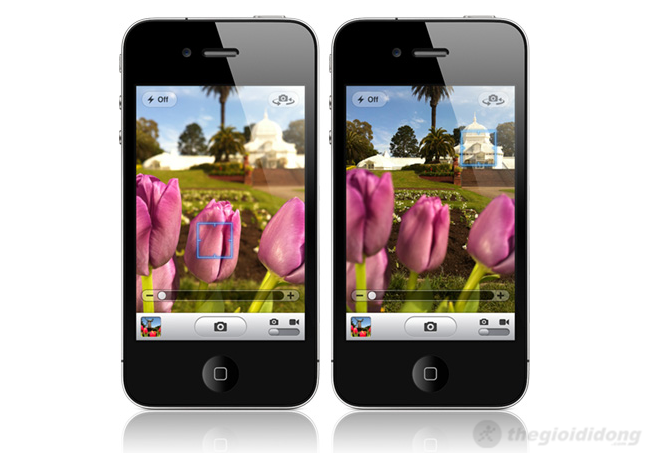 Camera iphone 4 có khả năng lấy nét nhanh và giao diện chụp hình đơn giản