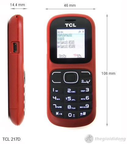Kích thước TCL 217D
