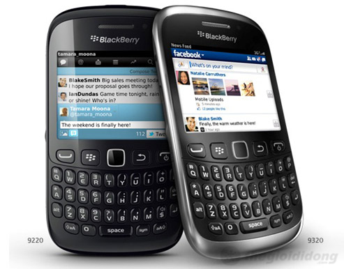BlackBerry Curve 9320 vẫn sở hữu kiểu dáng truyền thống