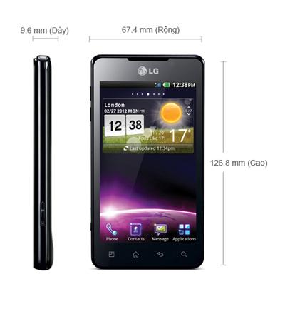 Kích thước LG Optimus 3D Max