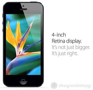 iphone 5 dùng công nghệ màn hình rentina