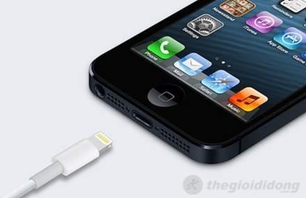 Cổng kết nối Lightning hoàn toàn mới của iphone 5