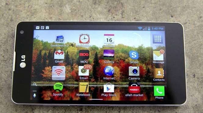 Màn hình LG Optimus G hiển thị hình ảnh  sắc nét