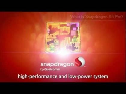 Chip Qualcomm Snapdragon S4 Pro mang đến cho máy  thời lượng pin tốt nhất