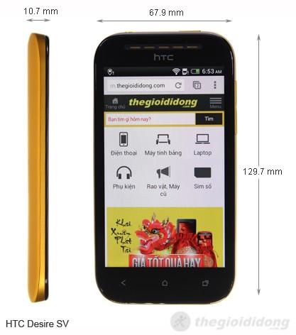 HTC Desire SV kích thước