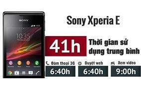 Thời lượng pin Sony Xperia E