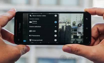 Giao diện chụp hình trên HTC Butterfly