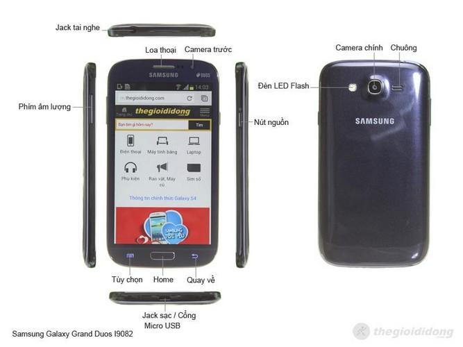Mô tả chức năng của Samsung Galaxy Grand Duos I9082