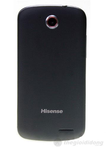 Hisense F1 với camera sau nằm phía trên flash