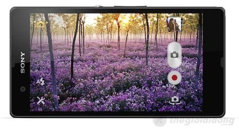 Giao diện chụp ảnh của Camera của Xperia Z
