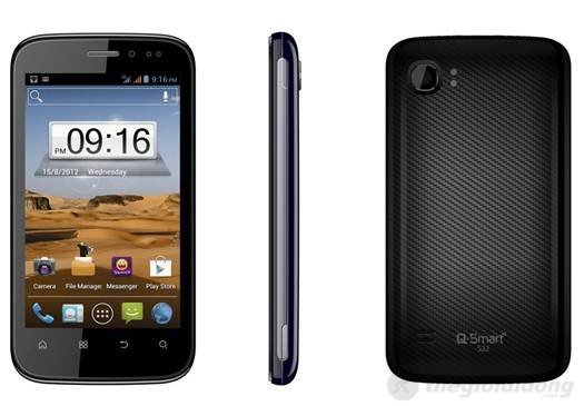 Q-Smart S22, Smartphone Android 2 sim giá rẻ