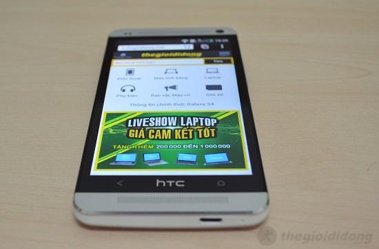 HTC One có góc nhìn màn hình rộng