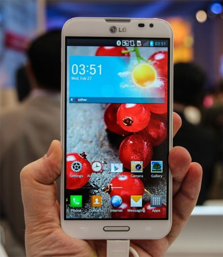 Thiết kế của LG Optimus G Pro khá giống người tiền nhiệm Optimus G