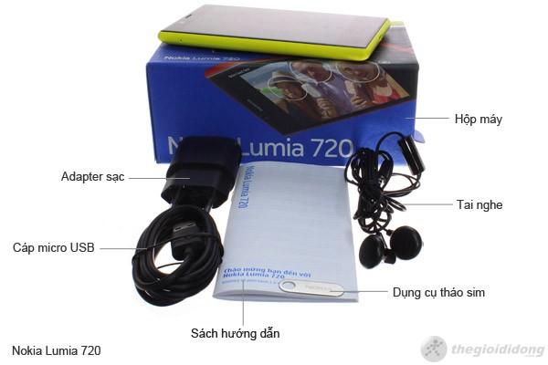 Bộ bán hàng chuẩn của Nokia Lumia 720