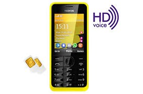HD voice Nokia 301