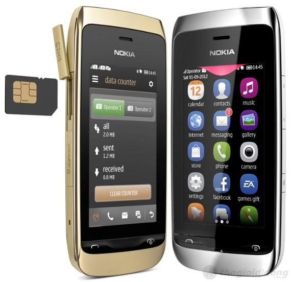 Nokia Asha 307 hỗ trợ 2 sim 2 sóng
