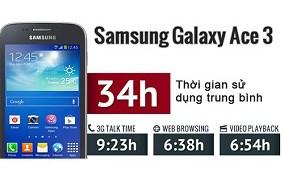 Samsung Galaxy Ace 3S7270 có pin dung lượng lớn