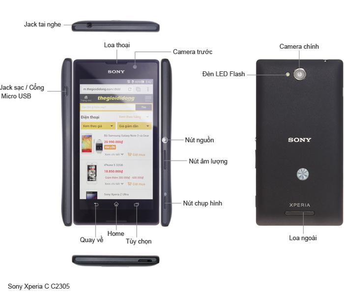 Thông số kỹ thuật Sony Xperia C C2305