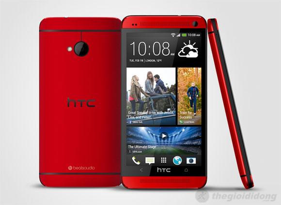 Thiết kế tuyệt vời của HTC One Red