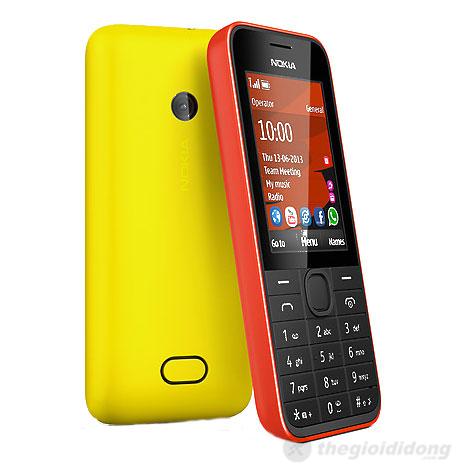 Máy ảnh sau 1.3MP được tích hợp trên Nokia 208