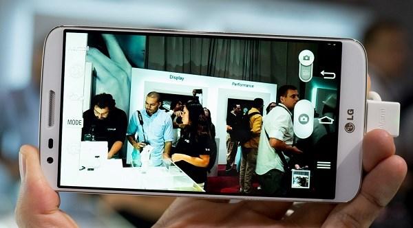 Giao diện chụp ảnh LG G2