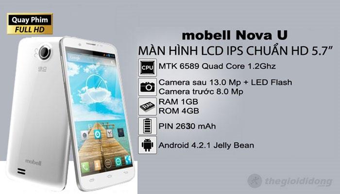 Mobell Nova U cấu hình khủng với mức giá tầm trung