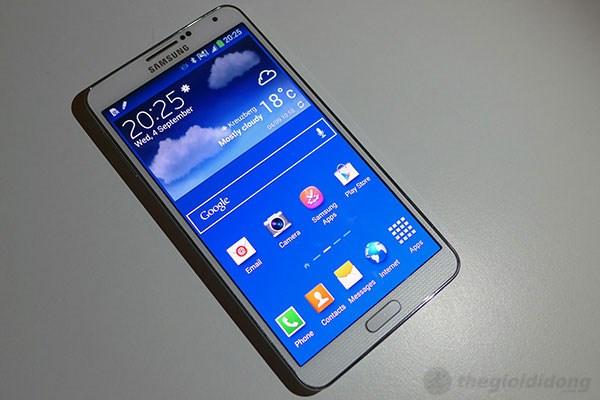Giao diện TouchWiz trên Galaxy Note 3 của Samsung