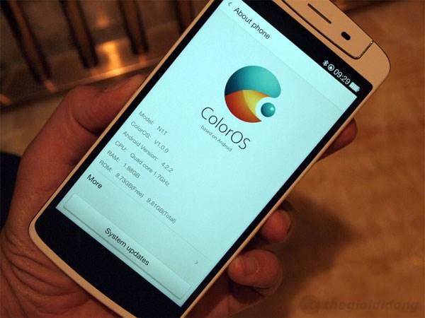 """Bộ áo """"Color OS"""" của Oppo N1 chạy trên nền tảng Android 4.2"""
