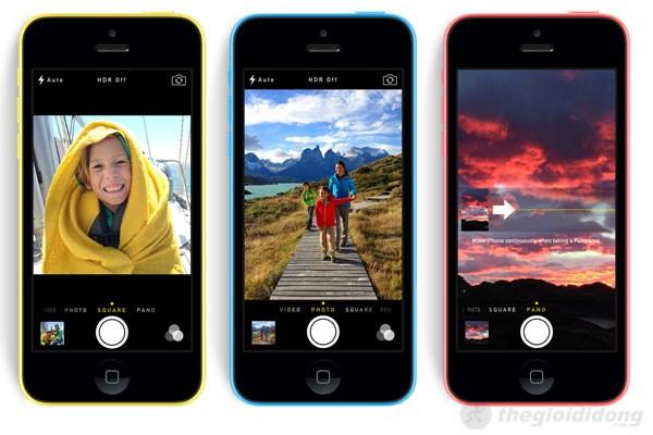 Ứng dụng camera với nhiều tính năng chụp ảnh sáng tạo trên iPhone 5C