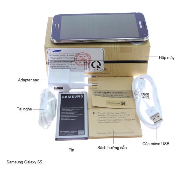 Bộ sản phẩm chuẩn của Samsung Galaxy S5 G900