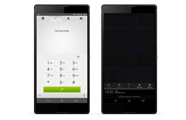 Sony Xperia T2 Ultra thao tác 1 tay dễ dàng