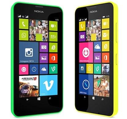 Lumia 630 cạnh phải và cạnh trái