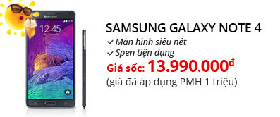 Điện thoại di động Samsung Galaxy Note 4