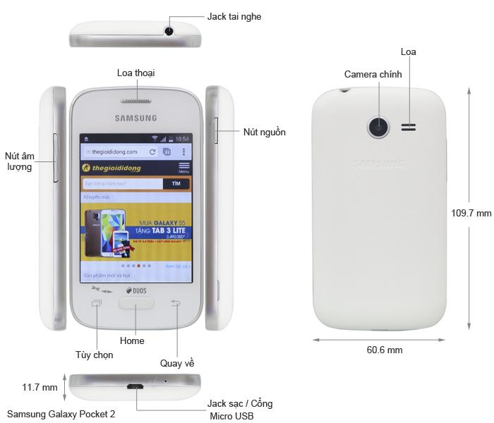 Điện thoại Samsung Galaxy Pocket 2 G110