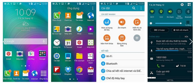 Các giao diện của Android 4.4