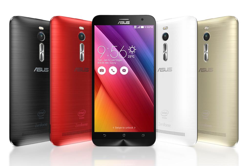 Asus Zenfone 2 có nhiều phiên bản màu sắc cho bạn lựa chọn như đỏ, đen, bạc…