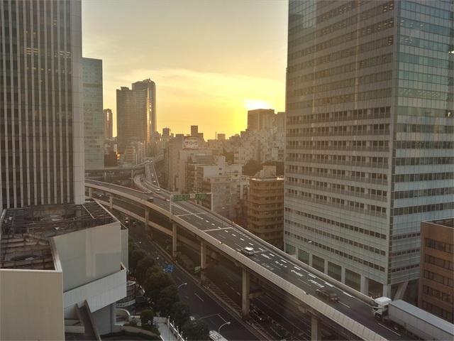 Bình minh hay hoàng hôn tại Tokyo