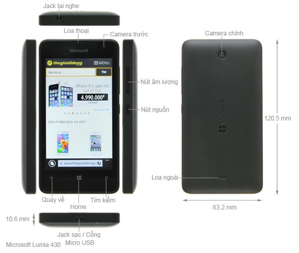 Thông số kỹ thuật Microsoft Lumia 430