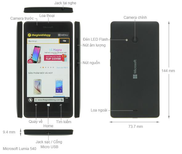 Thông số kỹ thuật Microsoft Lumia 540