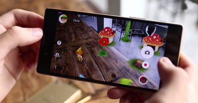 Chế độ hiệu ứng AR đầy màu sắc đặc trưng của các dòng máy Sony