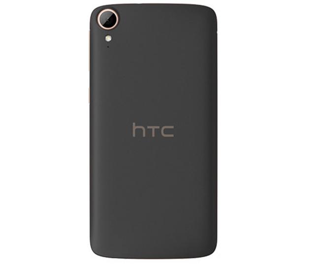 Mặt lưng của máy có logo của hãng HTC