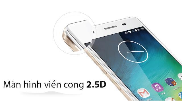 Màn hình với kính cường lực Gorilla 3 cong 2.5D được trang bị tấm nền AMOLED giúp trải nghiệm màn hình tốt hơn