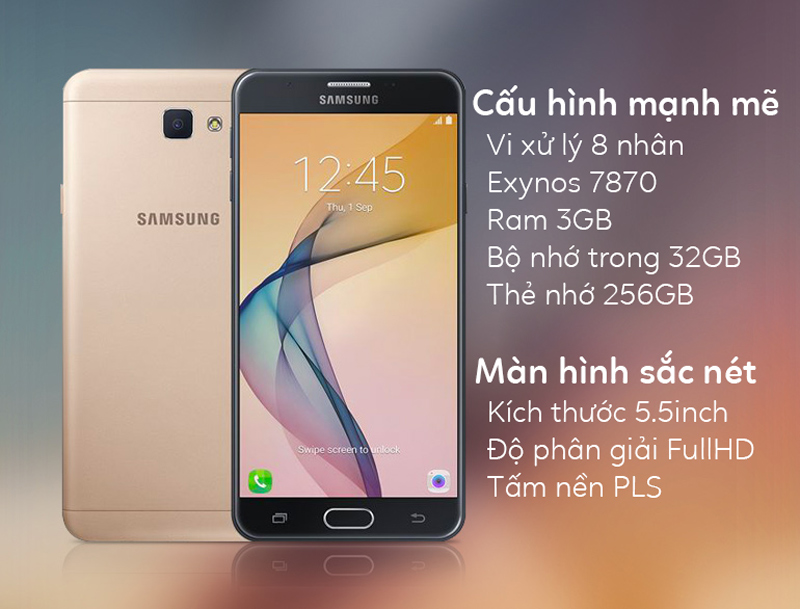 Samsung Galaxy J7 Prime - Cấu hình mạnh mẽ, màn hình lớn