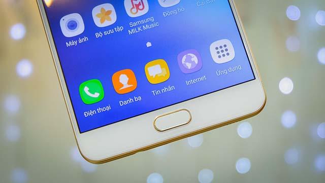 Cảm biến vân tay một chạm của điện thoại Samsung Galaxy C9 Pro chính hãng