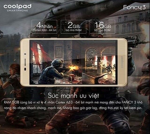 Coolpad Fancy 3 - Cấu hình cho những trải nghiệm tốt