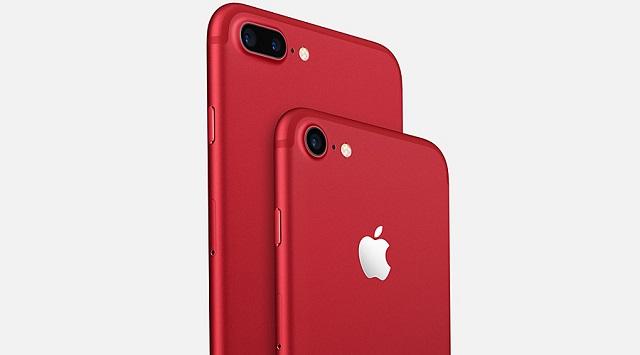 iPhone 7 Red 128GB - Camera selfie 7 MP